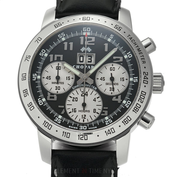 Jacky Ickx Limited Edition Chronograph XXX/1000 Steel 40mm Black Dial