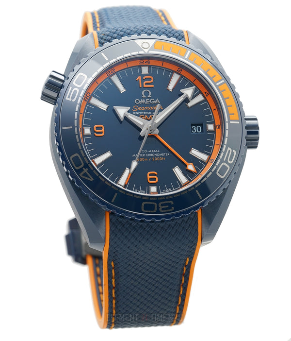 Planet Ocean 600m GMT Ceramic 46mm Big Blue Orange Accents
