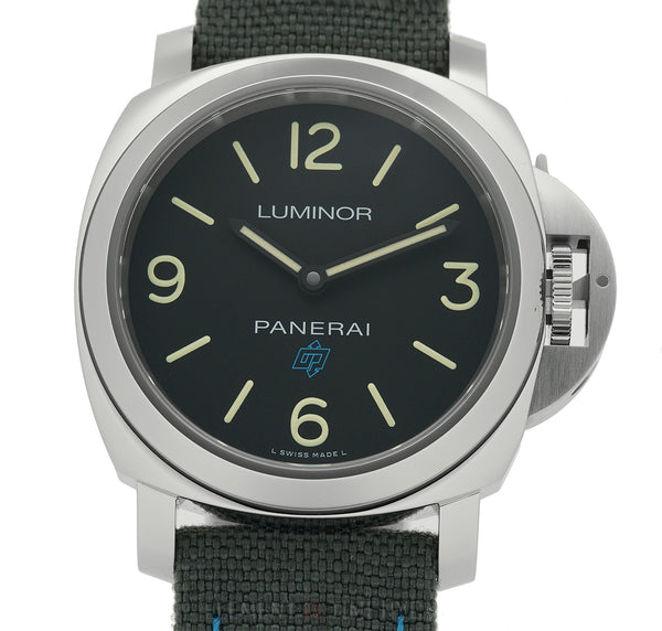 Luminor Base Logo 3 Days Steel 44mm Black Dial