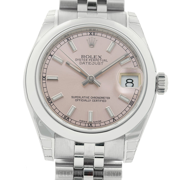 31mm Stainless Steel Pink Index Dial Jubilee Bracelet