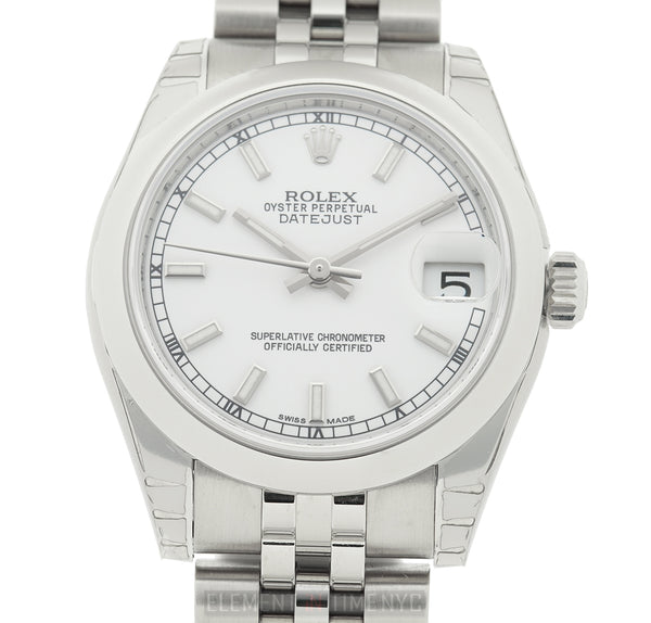 Stainless Steel 31mm White Index Dial Jubilee Bracelet