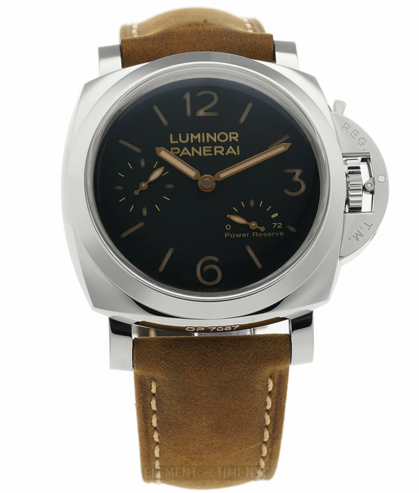 Luminor 1950 Power Reserve 3 Days Steel 47mm Black Sandwich Dial