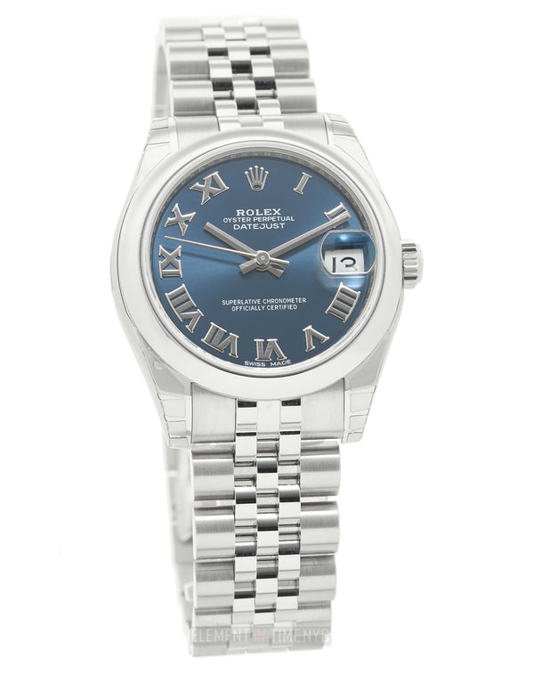 31mm Stainless Steel Blue Roman Dial Jubilee Bracelet