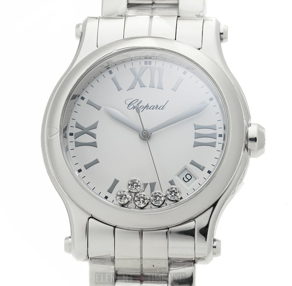 5 Diamond Steel White Dial Quartz 36mm