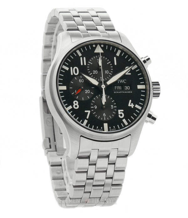 Chronograph 43mm Black Dial Stainless Steel Bracelet