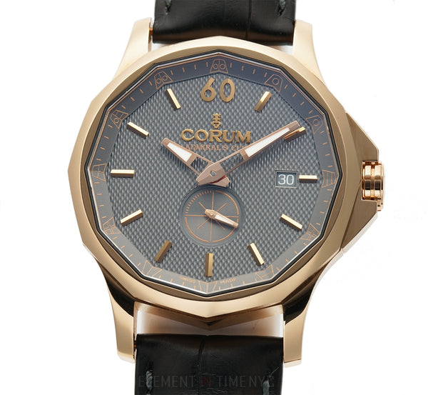 Legend 18k Rose Gold Slate Dial On Strap 42mm