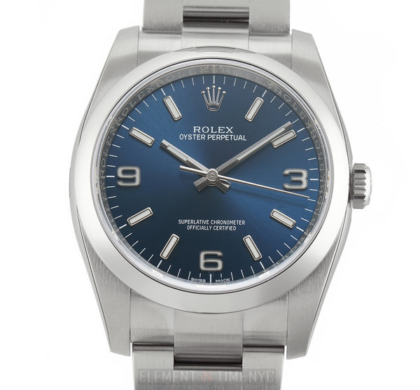No-Date 36mm Blue 3,6,9 Dial