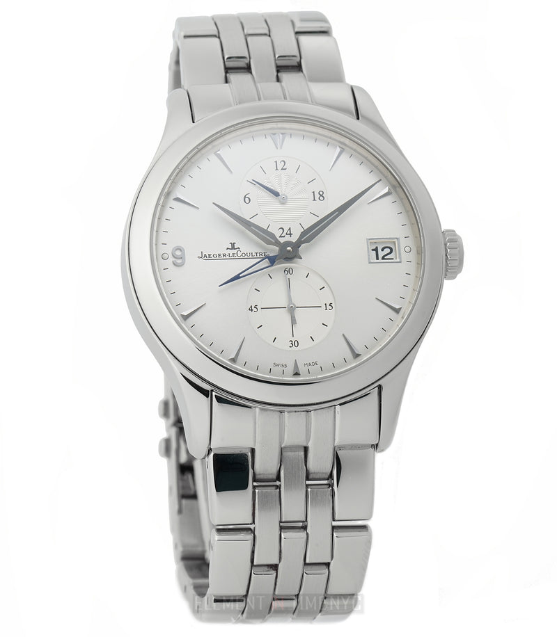 Hometime Dual Time Steel 40mm Silver Dial Full Set 2010