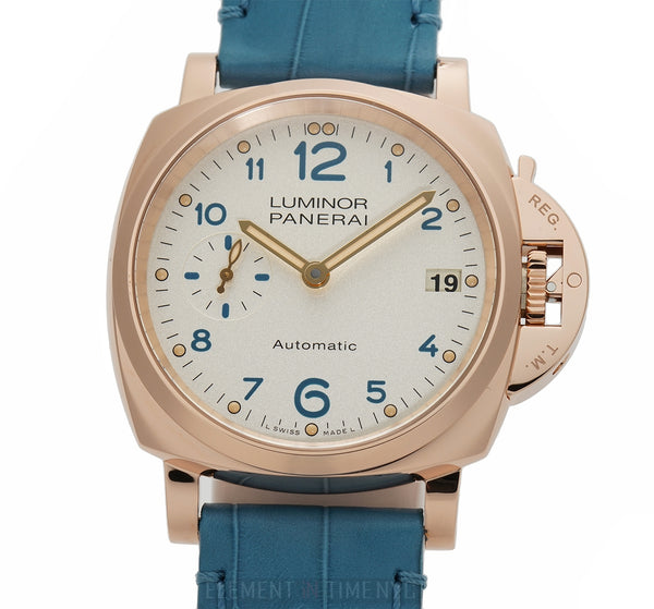 Due 18k Rose Gold Ivory And Blue Dial 38mm 3 Days