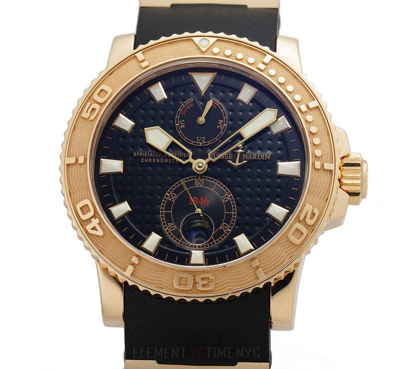 Chronometer 18k Rose Gold 43mm Black Dial With COSC Certificate 2005