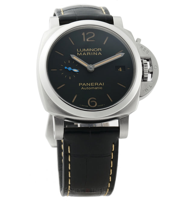 Luminor Marina Steel 42mm Black Sandwich Dial