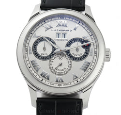Perpetual Twin Steel 43mm Silver Dial