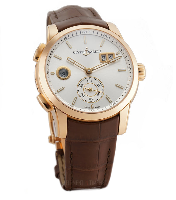 18k Rose Gold Silver Dial Big Date 42mm