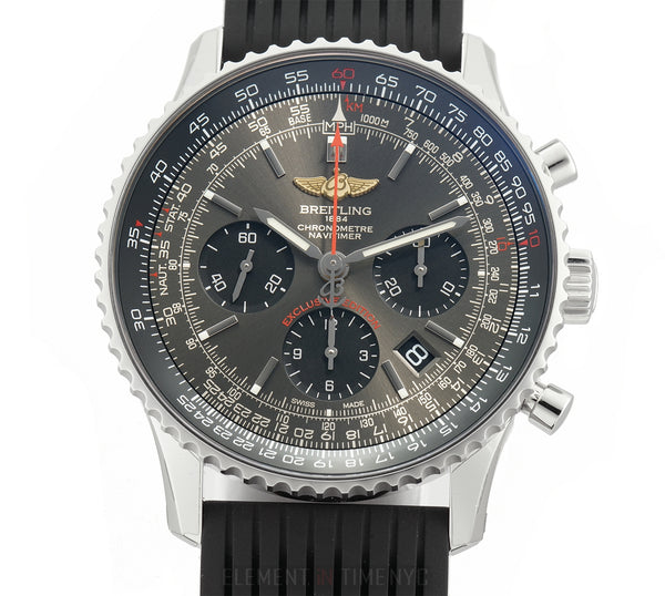 Navitimer 01 @9 Exclusive Edition Stratos Grey 43mm On Rubber Full Set 2018