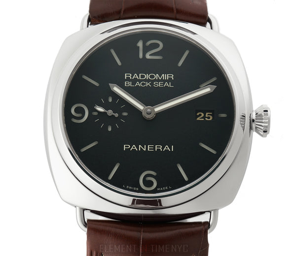 Black Seal 3 Days Steel 45mm Black Sandwich Dial R Series