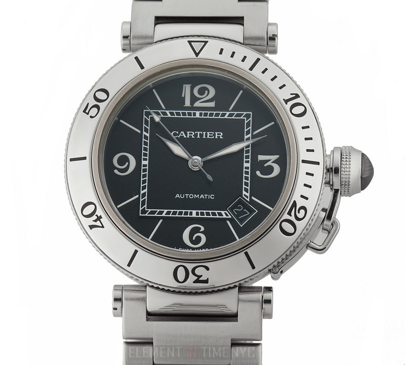 Seatimer Stainless Steel Black Dial On Bracelet 40mm Box And Papers