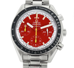 Schumacher Reduced Chronograph Steel 39mm Red Dial