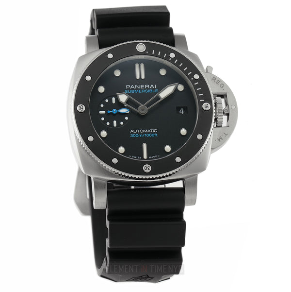 Luminor Submersible 3 Days Steel 42mm Ceramic Bezel Black Dial