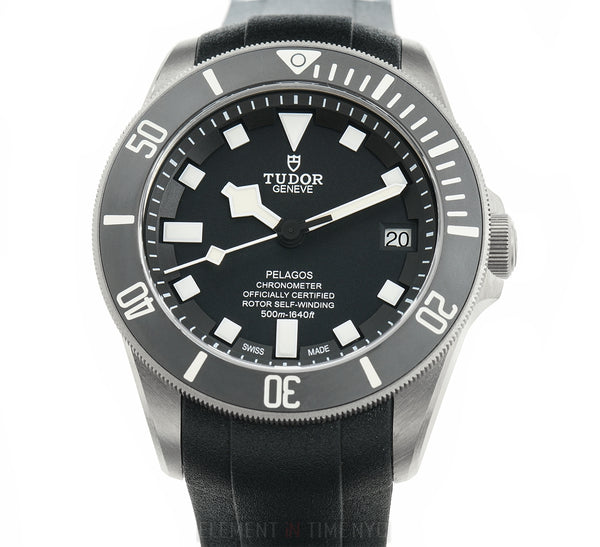 Diver Titanium 42mm Black Dial On Rubber B & Deployment