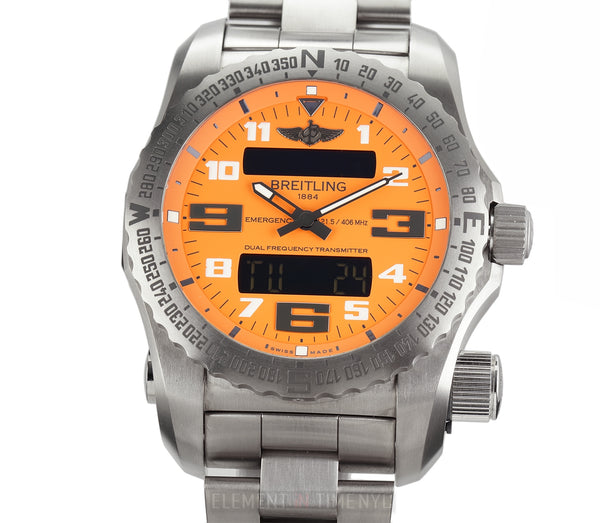Titanium Orange Dial 51mm On Bracelet