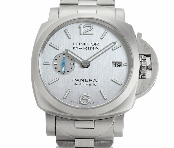 Luminor Marina 42mm Steel On Bracelet Silver Brushed Dial Full Set V Series 2019