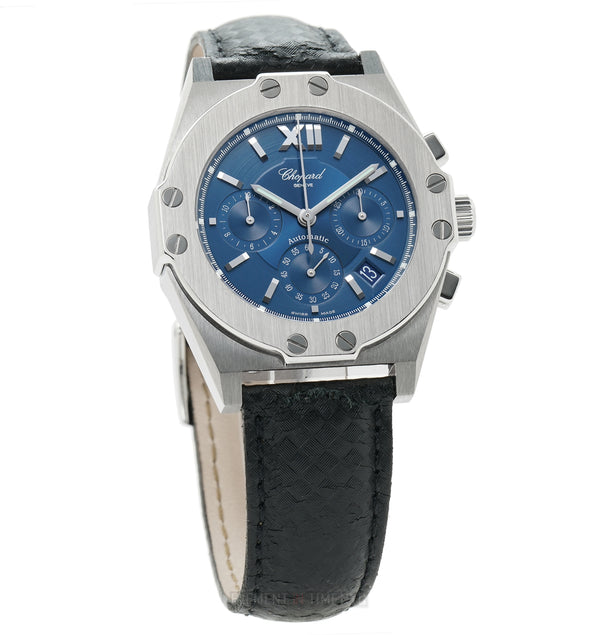 St-Moritz Chronograph Steel 37mm Blue Dial