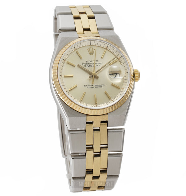 Steel & Yellow Gold 36mm Silver T Swiss Dial Automatic Circa 1978