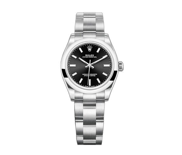No-Date 31mm Bright Black Dial Oyster Bracelet