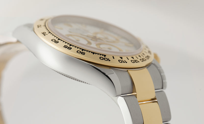 Steel & 18k Yellow Gold White Dial