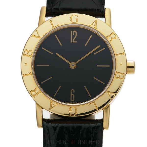18k Yellow Gold Dress Watch 30mm Black Dial