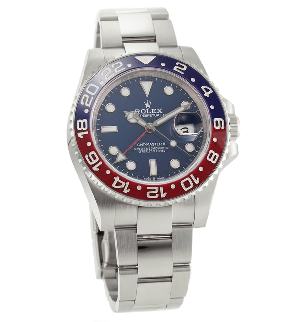 Ceramic Pepsi Bezel 18k White Gold Blue Dial