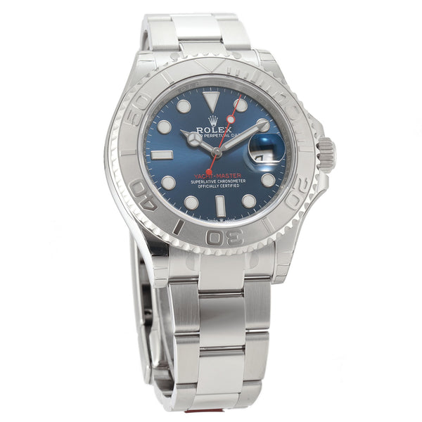 40 Stainless Steel Platinum Bezel Blue Dial