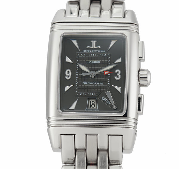 Reverso Gran Sport Retrograde Chronograph Black Dial 28mm Service Papers 6/2019