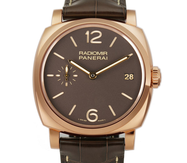 Radiomir 1940 47mm 18k Rose Gold Brown Sandwich Dial