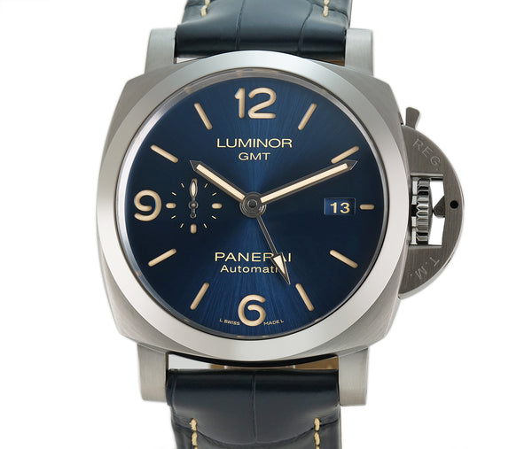 Luminor GMT Steel 44mm Blue Sandwich Dial