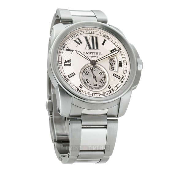 Stainless Steel 42mm Silver Dial On Bracelet Full Set 2014