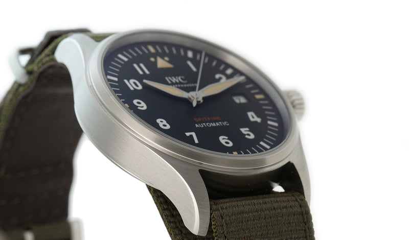 Spitfire 39mm Automatic Watch Steel  Black Dial