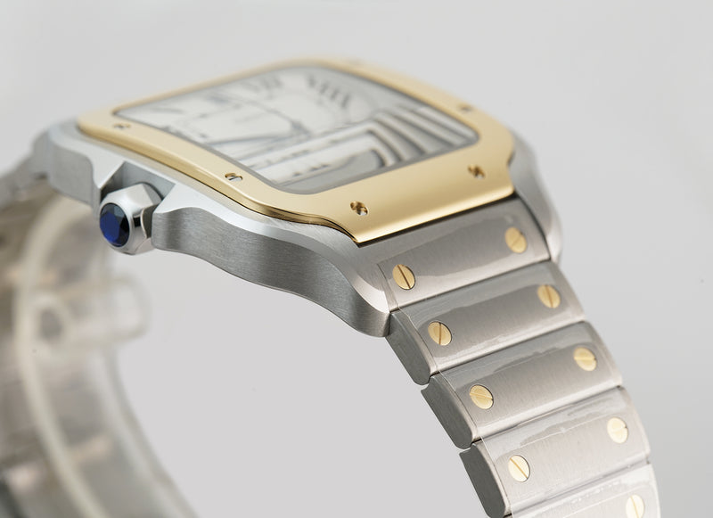 Large 40mm Steel & 18k Yellow Gold