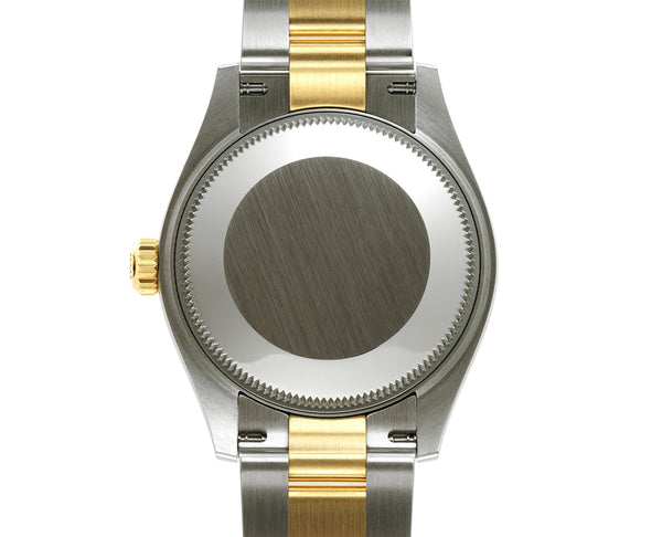 31mm Steel And 18k Yellow Gold Dark Grey Set with Diamond Dial Oyster Bracelet