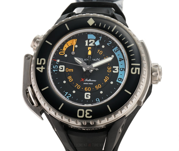 X Fathoms Depth Gauge Diver 56mm Titanium Black Dial