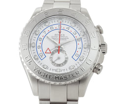 Regatta Chronograph 44mm 18k White Gold Platinum Bezel White Dial