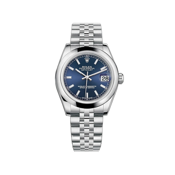 31mm Stainless Steel Blue Index Dial Jubilee Bracelet