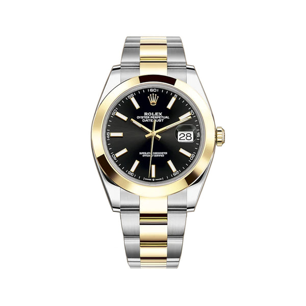 41mm Steel & Yellow Gold Black Index Dial Oyster Bracelet