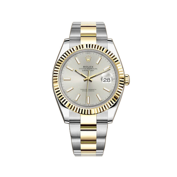 41mm Steel & Yellow Gold Silver Index Dial Oyster Bracelet