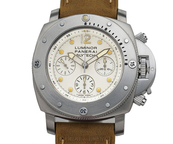 Luminor Submersible 1950 Chrono 1000m Slytech 47mm White Dial Stallone LTD ED 2005