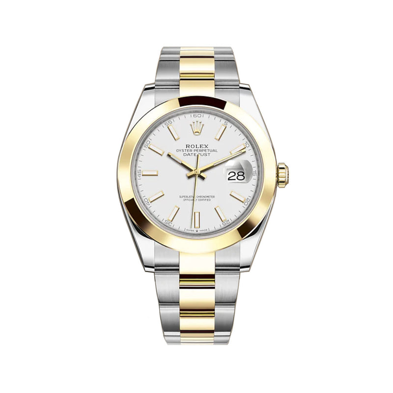41mm Steel & Yellow Gold White Index Dial Oyster Bracelet