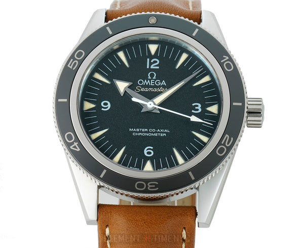 300 Omega Master Co-Axial 41mm Steel Black Dial