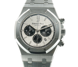 Panda Chronograph Steel 41mm Silver Dial