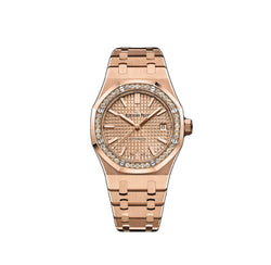 Selfwinding 37mm 18k Pink Gold Diamond Bezel