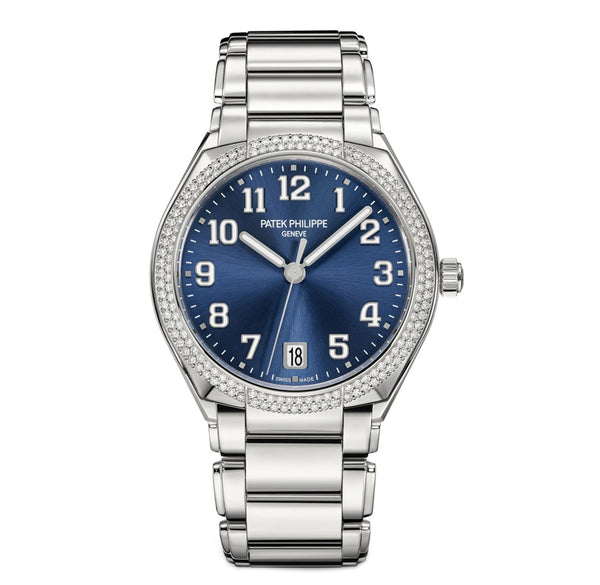 Steel Blue Dial Diamond Bezel 36mm Automatic